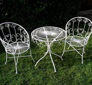 Salon De Jardin Metal : salon de jardin metal laqu blanc d montable 2 fauteuil ~ Dailycaller-alerts.com Idées de Décoration