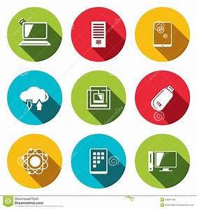 Exchange Of Information Technology Flat Icons Set Stock ...