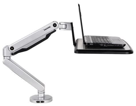 swing arm laptop table loctek loctek sit stand workstation desk laptop mount arm