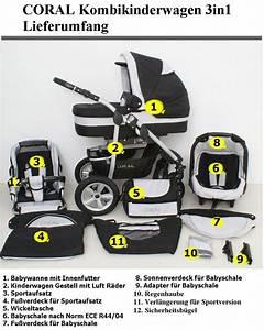 Günstige Kombikinderwagen Mit Babyschale : check das coral 3 in 1 kombikinderwagen komplettset ~ Watch28wear.com Haus und Dekorationen