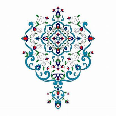 Turkish Vector Floral Pattern Islam Clip Flowers