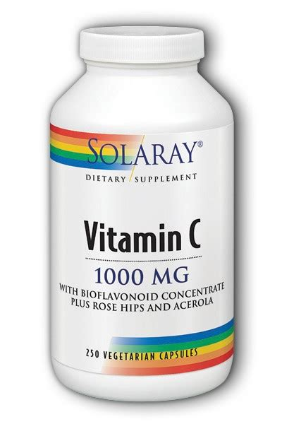 Solaray Vitamin C With Bioflavonoid Concentrate Plus Rose