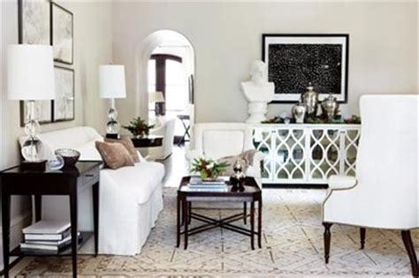 mirrored sideboard transitional living room