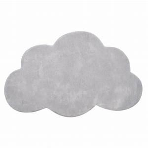 tapis enfant coton nuage gris clair lilipinso achat With tapis nuage gris