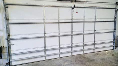 insulated 2 car garage door installing garage door insulation