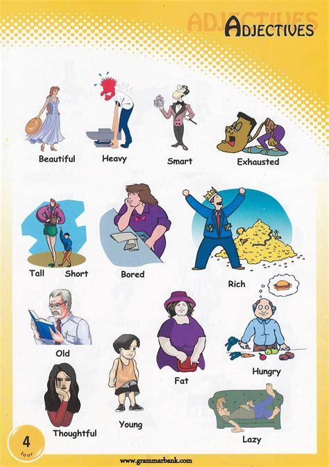 adjectives pictures   print
