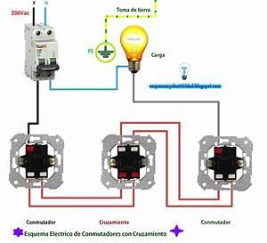 Esquema Electrico De Conmutadores Con Cruzamient