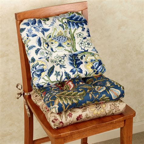 regency jacobean floral chair cushion set of 2 by waverly