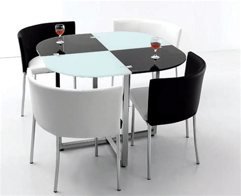 space saving table and chairs black and white space saving dining room table and chairs