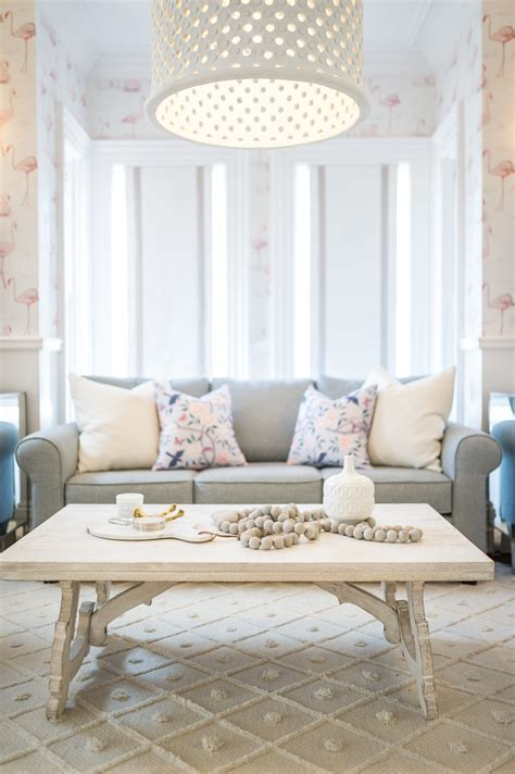 wooden heart prayer beads white wash coffee table glam