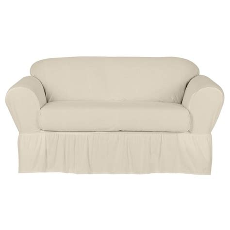 Cotton Duck Loveseat Slipcover by Cotton Duck Loveseat Slipcover 2 Simply Shabby