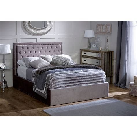 silver bed frame buy limelight rhea ottoman silver bed frame big 5212