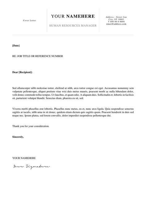simple cover letter ideas  pinterest resume