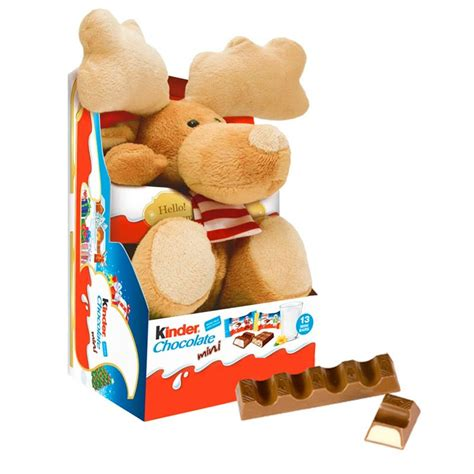 kinder reindeer fluffy toy chocolate minis  buy