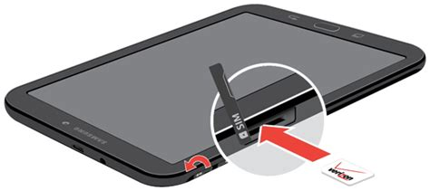 samsung tablet  sim slot