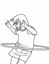 Coloring Hula Physical Education Activities Hoop Miracle Timeless sketch template