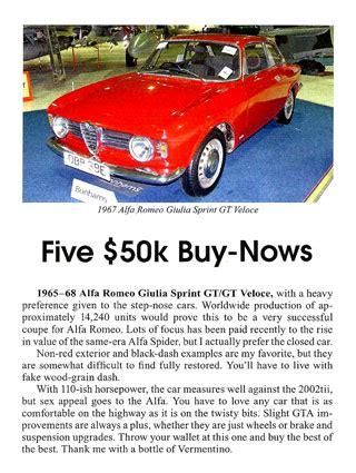 fabulous  alfa romeo gt veloce stepnose coupe sold