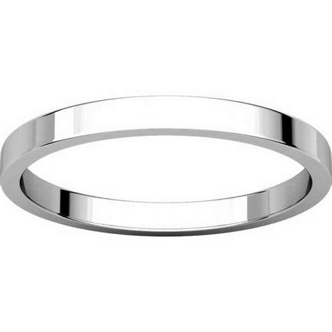 n012502pd palladium 2mm wide flat wedding ring
