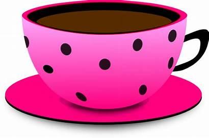Teacup Pink Dot Tea Cup Cartoon Clip