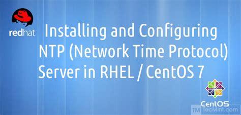setting  ntp network time protocol server  rhel