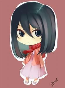 Mikasa, Chibi, Por, Edwardjsus