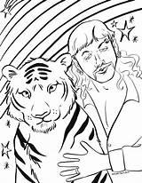 Tiger Coloring King Printable Joe Exotic Sheets Tigre Disegno Carole Printables Drawing Baskin Asthebunnyhops Characters Highlightsalongtheway Activity Drawings Sheet Tigers sketch template