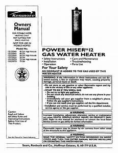 Kenmore Power Miser 153 330551 User Manual