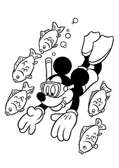 Kleurplaat Mickey Mouse Zomer by Kleurplaat Vakantie ζωγραφιζω Mickey Mouse Coloring