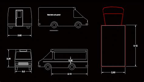 food truck  dwg plan  autocad designs cad
