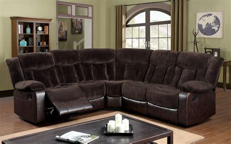 furniture  america brown ethan reclining sectional