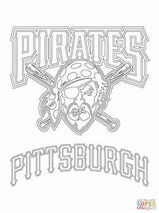Pittsburgh Pirates Logo Coloring Page Free Printable