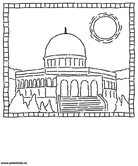 Moskee Kleurplaat by Suikerfeest Eid Mubarak Plaatjes Recepten Knutsels