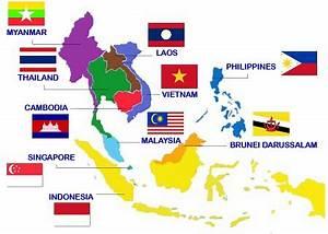แผนที่ประจำอาเซียน | 10 ประเทศ แห่งอาเซียน