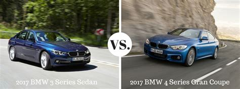 3 Series Vs 4 Series Gran Coupe by 2017 Bmw 3 Series Sedan Vs 4 Series Gran Coupe