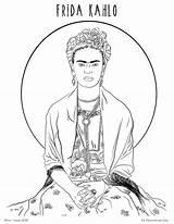 Kahlo sketch template