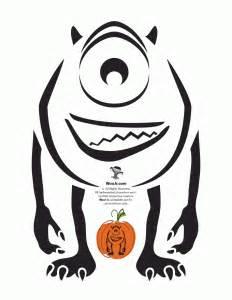 Mike Wazowski Pumpkin Stencil by Pumpkin Stencils Disney Pumpkin Carving Patterns Woo