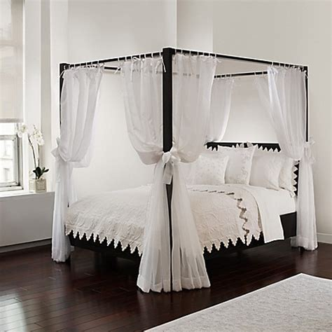 sheer bed canopy curtains  white bed bath
