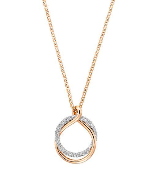 lyst swarovski exact crystal  rose gold pendant