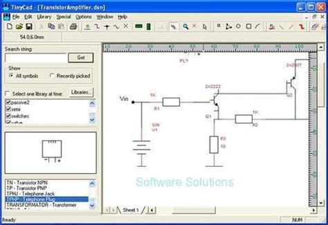 Developer Tools Tinycad Drawing Electrical Circuit