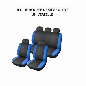Housse Voiture Universelle : housse de sieges voiture noir et bleue universelle 9 pieces ~ Nature-et-papiers.com Idées de Décoration