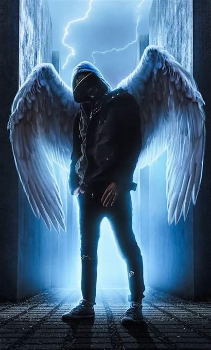 Guy Hoodie Wings Angel Anime Iphone Wallpapers