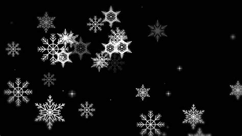 Snowflake Background Black And White by Black And White Snow Flakes Looping Animated Background