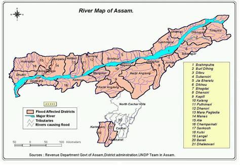 india river map  assam india reliefweb