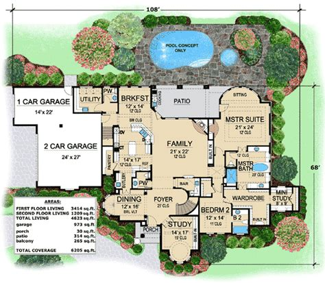 1 luxury house plans one of a luxury villa 36126tx architectural