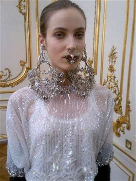 fierce facial jewelry shots givenchy spring  couture