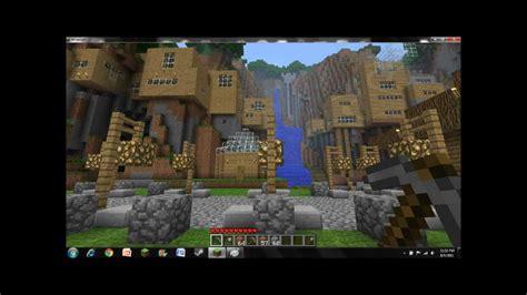 amazing minecraft cliff housevillage youtube