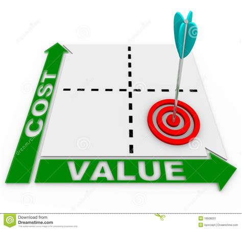 Cost Value Matrix - Arrow And Target Stock Image - Image ...