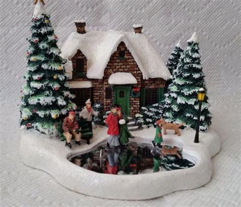 homeade lifesize thinas kinkade christmas tree kinkade skater s pond lighted house 2004 teleflora villages