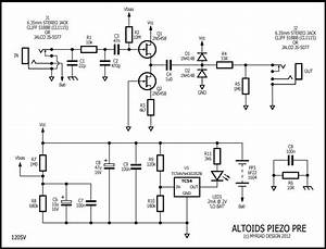 piezo pickup pre schematic get free image about wiring With electric guitar preamplifier circuitsprojects