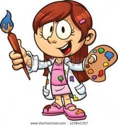 Cartoon Girl Artist Clip Art